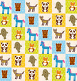 Set of funny animals panda bear wolf fox fur seal vector image vector image