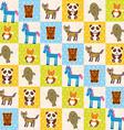 Set of funny animals panda bear wolf fox fur seal vector image