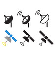 set of satellite icons vector image vector image