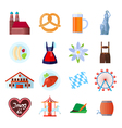 set oktoberfest icons vector image vector image