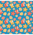 Shells Coral And Starfish Seamless Texture vector image