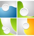Shiny waves backgrounds with circle shapes vector image vector image