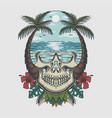 skull beach tropical vector image