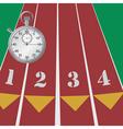 sport stopwatch vector image