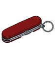 the red swiss army pocket knife vector image
