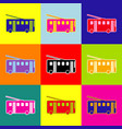 trolleybus sign pop-art style colorful vector image
