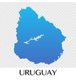 uruguay map in south america continent design vector image vector image