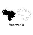 venezuela map vector image vector image