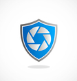 video media shield protection logo vector image