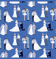 wedding ceremony groom and bride couple people vector image vector image