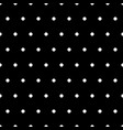 white polka dots on black background vector image vector image