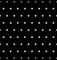 white polka dots on black background vector image