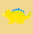 Yellow dinosaur vector image vector image
