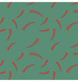 Vibrant seamless pattern red peppers vector image