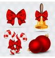 Set of realistic Christmas icons vector image