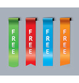Free bookmarks vector image