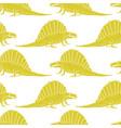 set silhouettes of dinosauranimal vector image