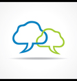 Blue and green Chat Icon stock vector image