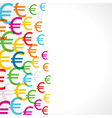 Seamless pattern background of euro symbols vector image