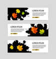 three autumn banners with colorful leaves vector image