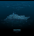 abstract yacht in sea vector image