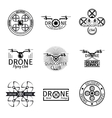 Aerial drone flying club labels badges and logos
