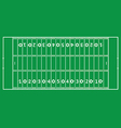 American football pitch vector image vector image