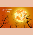 background and festival halloween concept vector image vector image