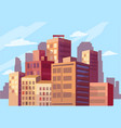 beautiful view of the modern city vector image