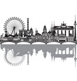 berlin skyline with reflection vector image