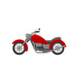 big old-school motorcycle side view red vintage vector image