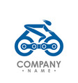 bike and chain outline bike race icon isolated vector image
