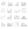 black outline simple graphs variations set eps10 vector image vector image