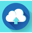 Blue Cloud Upload icon vector image vector image