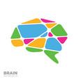 brain logo silhouette design template vector image vector image