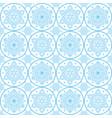 christmas folk art pattern - blue snowflake vector image vector image