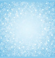 christmas of center blue sky snowflakes pattern vector image vector image