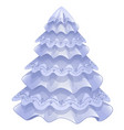 christmas tree made of a tablecloth isolated on vector image vector image