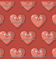 colorful background with pattern of heart and vector image vector image