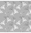 cornflower pattern grey vector image vector image