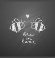 cute bees couple vector image vector image