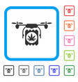 drugs drone delivery framed icon vector image vector image