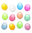 Easter Eggs as Stickers vector image vector image