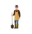 farmer with a shovel vector image