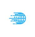 fast globe logo icon design vector image