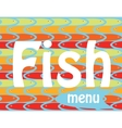 fish menu vector image