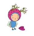 Forest Fairy with heart vector image