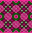 geometric circles seamless pattern vector image vector image