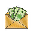 grated bill cash money inside card design vector image vector image