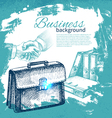 Hand drawn business background vector image